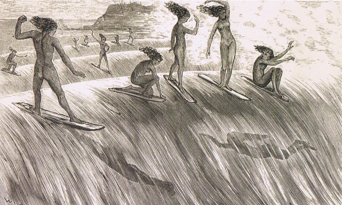 Гавайские серферы